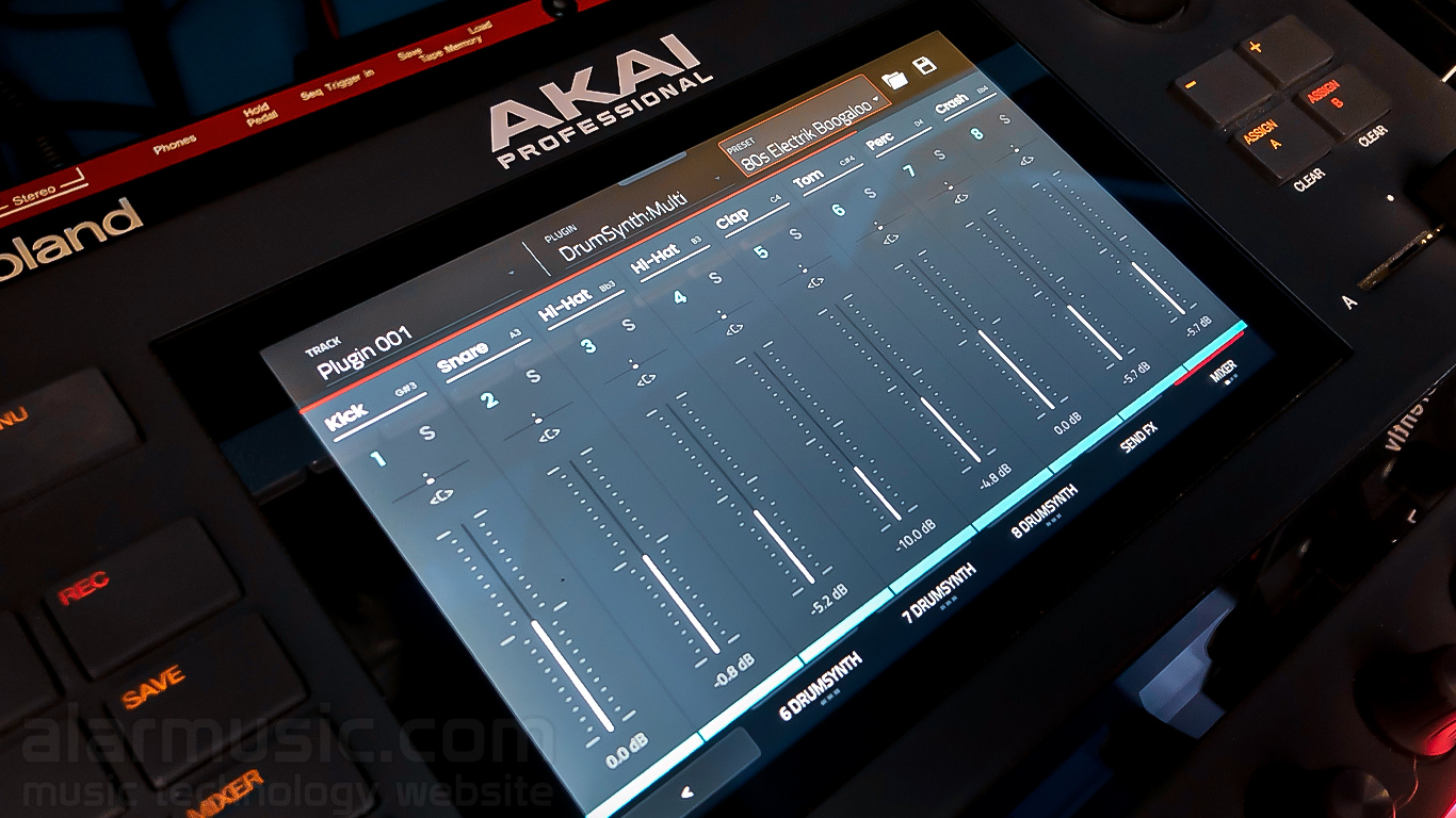 drumsynth akaiforce plugin multi mixer