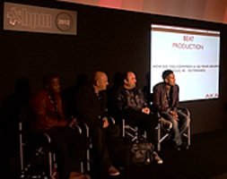 Beat Production - Tips and Secrets from Top Producers - da sinistra verso destra: Kojo Samuel (Jessie J / Tynchy Stryder / Plan B ), Steve Mac (Saved Records / SCI + TEC / Remixes for Michael Jackson / Madonna), Pete Boxta Martin (Jessie-J / Alexandra Burke), Alan Samson (Jay Sean / Alesha Dixon)