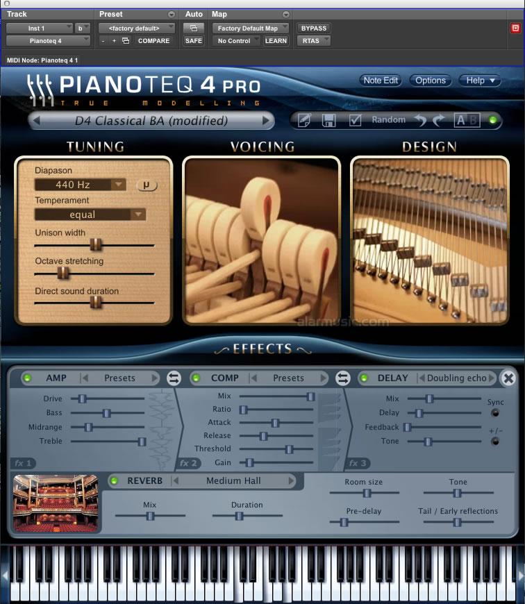 Modartt pianoteq 4 pianoforte virtuale a modelli fisici for Produttore di blueprint piano piano