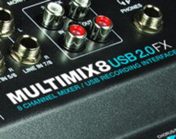 ALESIS MULTIMIX 8 USB 2.0 FX - mixer con interfaccia audio 10In/2 out