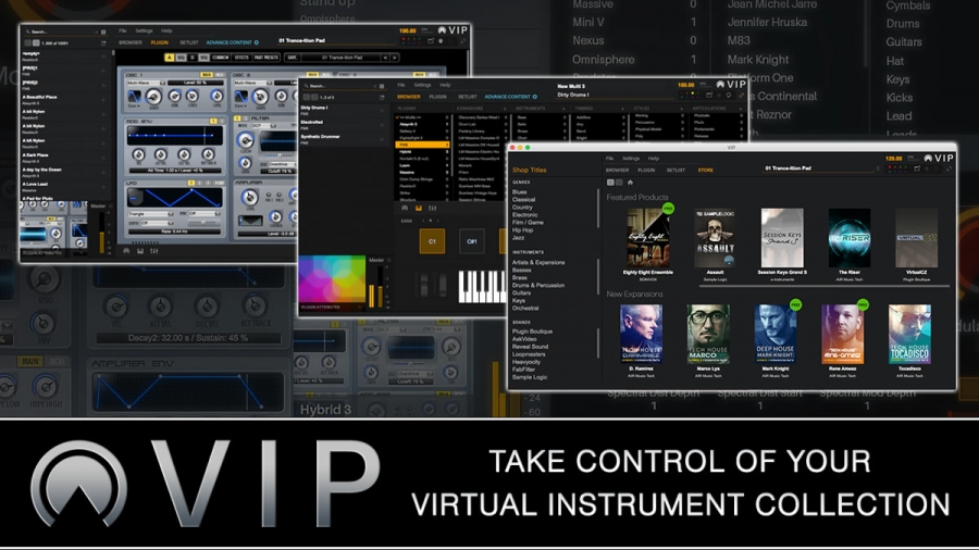 VIP VIRTUAL INSTRUMENTS PLAYER: WRAPPER VSTi, AUTO-MAP