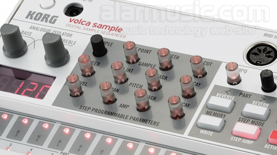 KORG VOLCA SAMPLE SEQUENCER DIGITALE CON FUNZIONE SONG, 100 SUONI PCM E 4MB DI CAMPIONAMENTO