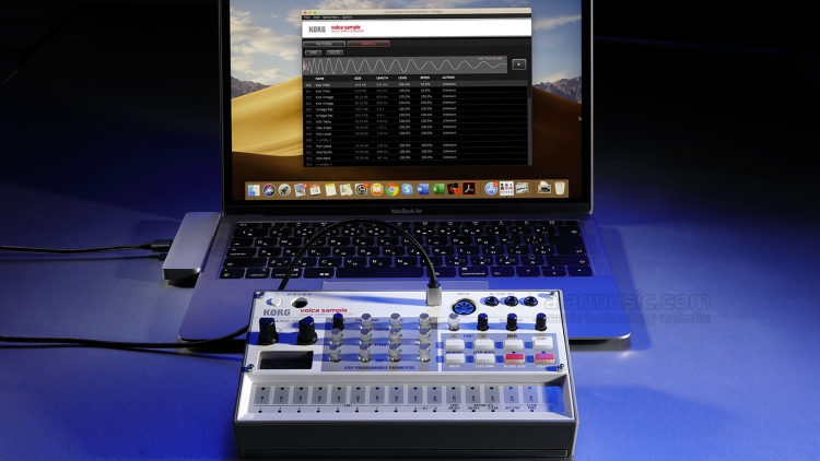 Korg volca Sample 2 USB la drum machine sample based di nuova generazione con porta micro USB