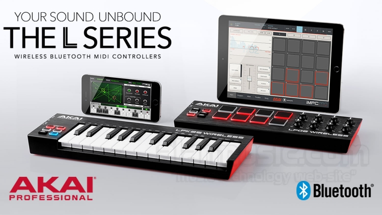 Akai Professional LPD8 WIRELESS e LPK25 WIRELESS BLUETOOTH MIDI E USB CONTROLLER