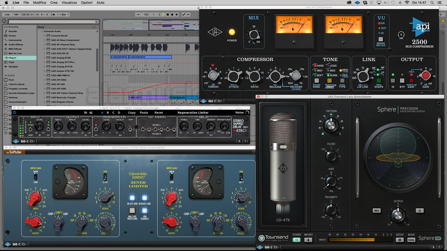 UAD SOFTWARE VERSIONE 9 PER APOLLO E SATELLITE UAD-2 BY UNIVERSAL AUDIO