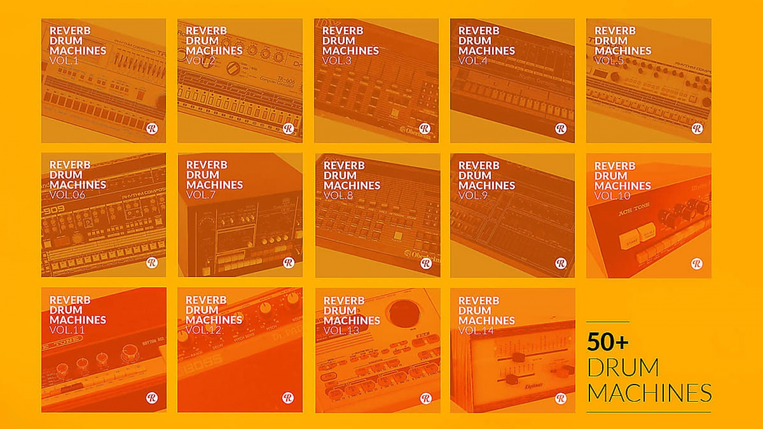 The Complete Reverb Drum Machines Collection: vasta libreria GRATUITA di campioni audio one shot e loop pubblicata da Reverb.com