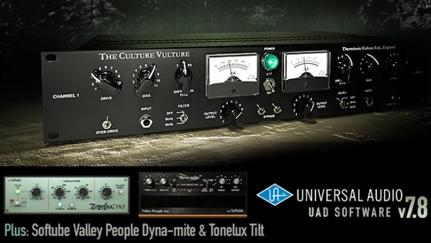 UAD Software 7.8 per le interfacce Apollo e le schede DSP UAD-2