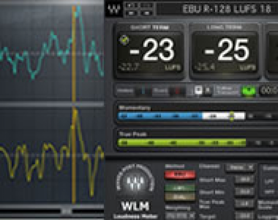 Studio Phase Meter : Waves v r inphase lt e wlm loudness meter