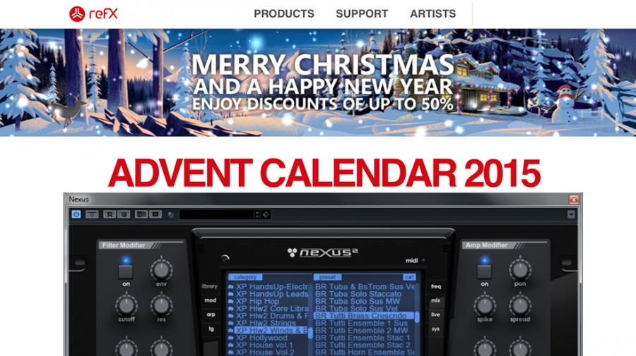 OFFERTE REFX E VENGEANCE ADVENT CALENDAR 2015