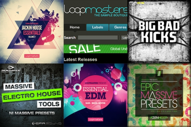 Loopmasters Jackin' House Essentials Vol 2 e Essential EDM, Big Bad Kicks, CFA Sound - Massive Electro House Tools, Epic Massive Presets by Zenhiser