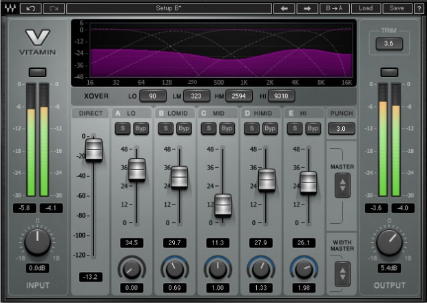 WAVES VITAMIN SONIC ENHANCER MULTIBANDA PER LO STUDIO DI REGISTRAZIONE E IL LIVE