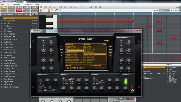 REFX NEXUS 2 COME VST IN AKAI MPC SOFTWARE ESPANSIONE COMMERCIAL ELECTRO 2