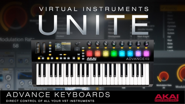 Akai Professional Advance 25, Advance 49 e Advance 61. Tastiere con display a colori, numerosi controlli assegnabili via Virtual Instruments Player ai tuoi strumenti virtuali preferiti